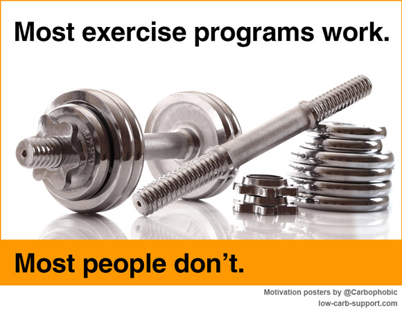Most exercise programs work. Most people don't.