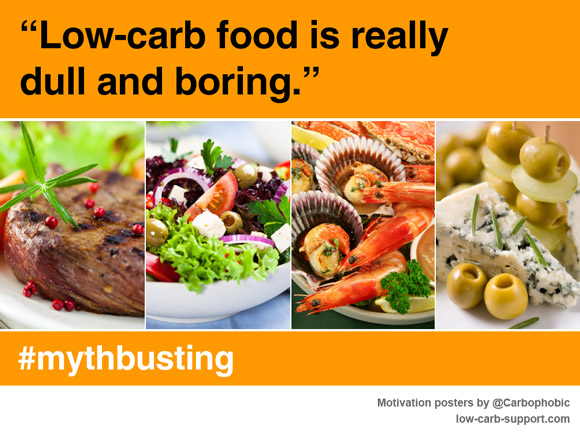 Low carb food is really dull and boring - mythbusting