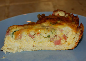 Quiche with almond flour crust - low carb