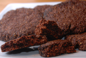 Almond flour choc biscuits