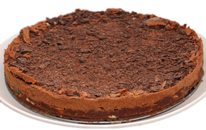 Low-carb gluten-free no-bake chocolate cake