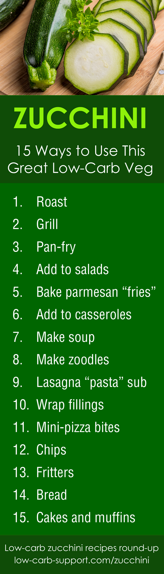 Ways to cook zucchini - a great low-carb veg