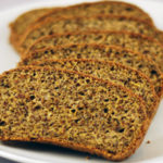 Low-carb high-fibre bread