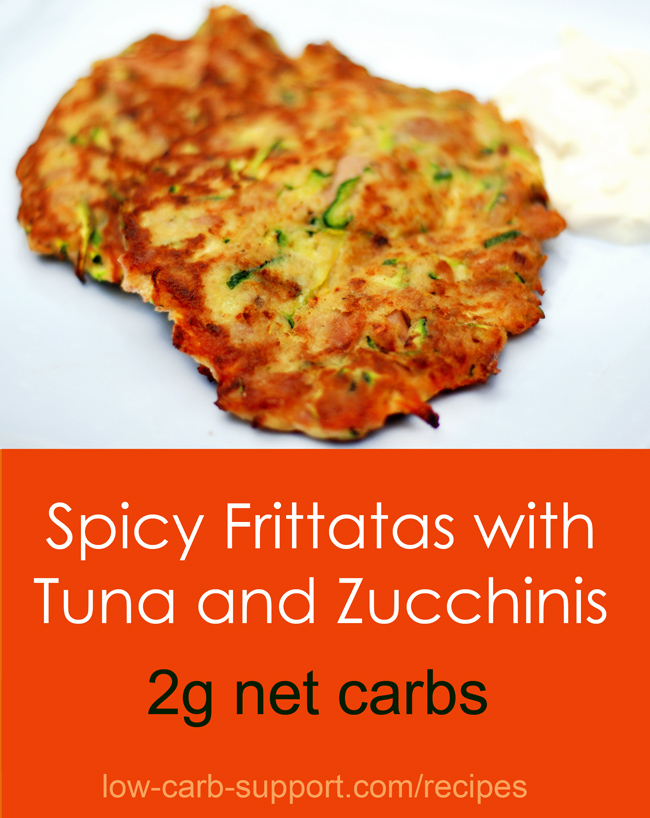 Spicy low-carb frittatas with tuna and zucchini – Low Carb ...