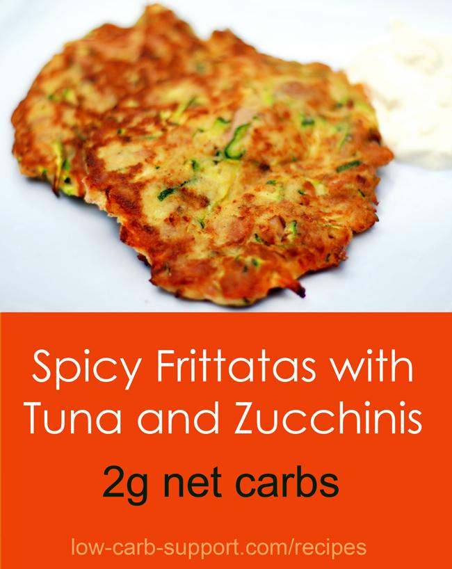 Low Carb Tuna Zucchinis Frittatas