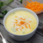 Cauliflower soup with cheddar - low-carb recipe