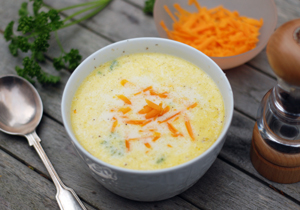 Cauliflower soup with cheddar
