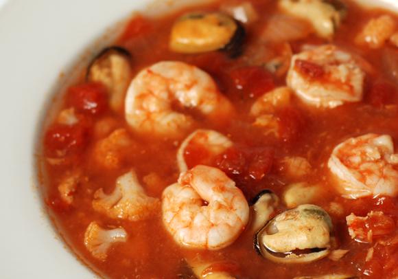 Portuguese-style low-carb fish soup