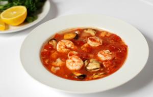 Low-carb fish soup