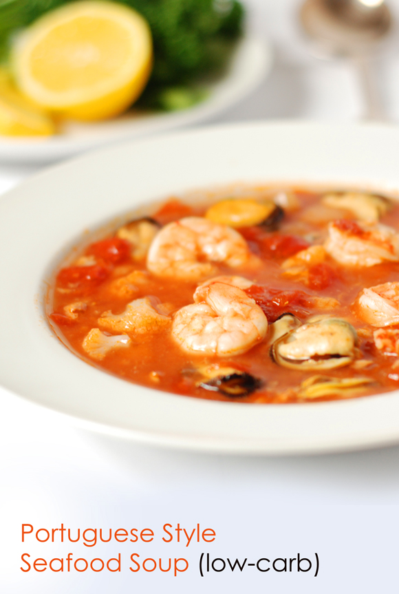 Portuguese-style low-carb fish soup