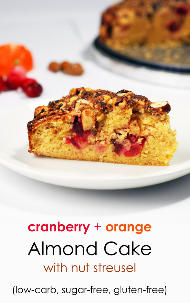 Almond cranberry orange cake, low-carb