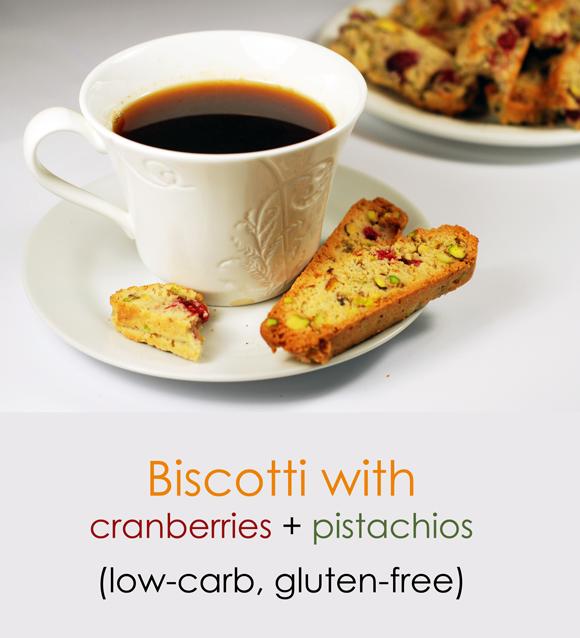 Low-carb, gluten-free biscotti