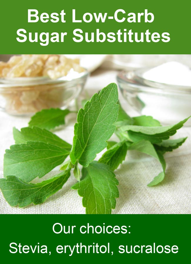 Quick guide to low-carb sugar substitutes