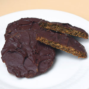 Low-carb chocolate digestives