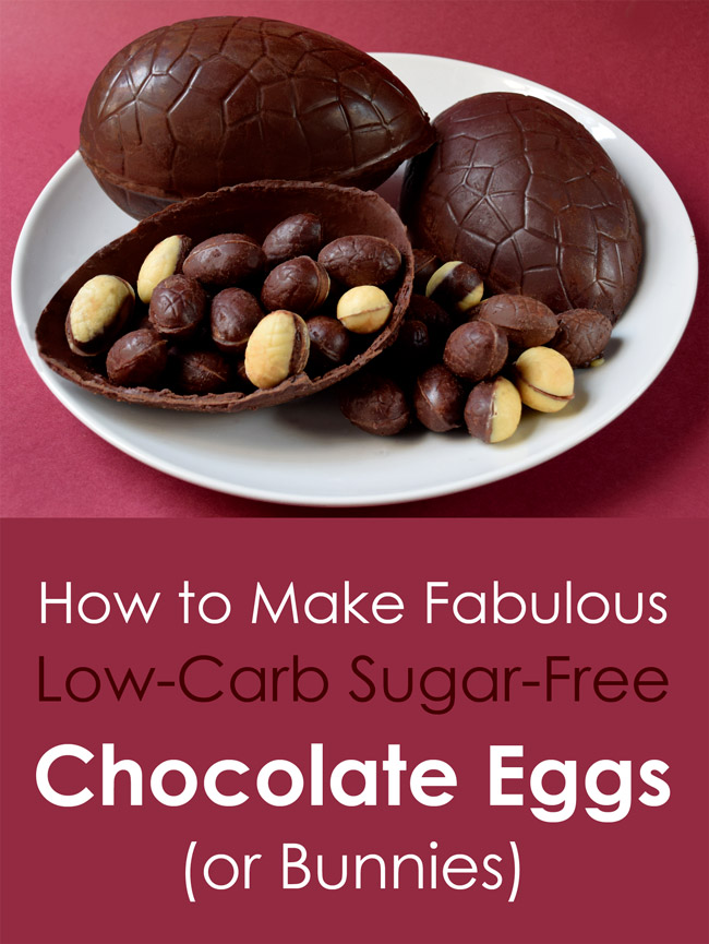 Low-carb sugar-free chocolate Easter Eggs