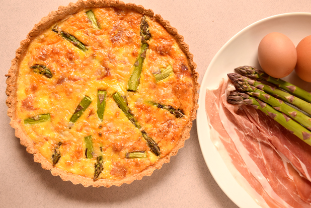 Low Carb Quiche with Asparagus - 2g net carbs per serving