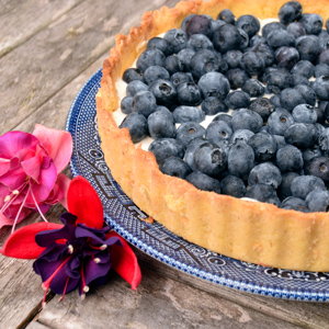 Low Carb Blueberry Tart - 5g net carbs