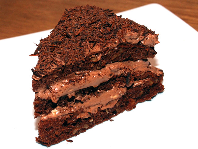 Low-carb sugar-free chocolate cake