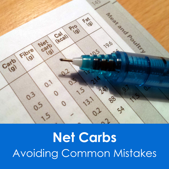 Net carbs - Avoid common counting mistakes