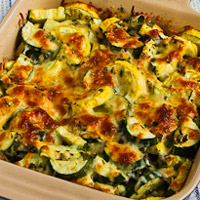 Low-Carb Zucchini Recipe - Easy Cheesy Zucchini Bake