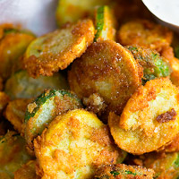 Low-Carb Zucchini Recipe - Fried Zucchini with Parmesan
