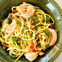 Low-Carb Zucchini Recipe - Bacon and Shrimp Zucchini Noodles