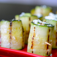 Low-Carb Zucchini Recipe - Zucchini and Goat Cheese Wraps