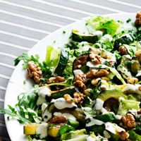 Low-Carb Zucchini Recipe - Zucchini and Walnut Salad