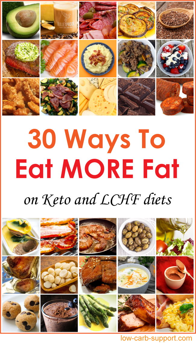 30 Ways to Eat More Fat on Keto and LCHF diets