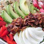 Quick low-carb dinner - Cobb salad